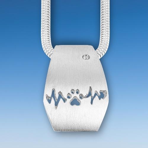 Reizender Anhänger Hundepfote in Gold oder Silber