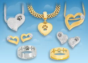 Edle Pfötchenschmuck Ringe in Gold und Silber