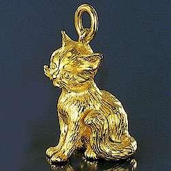 Ohrstecker Katze in Gold und Silber