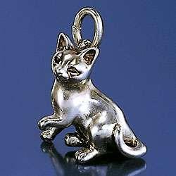 Schmuck Anhänger Siam Katze in Gold und Silber